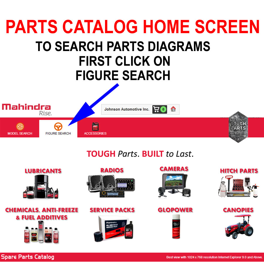 INSTRUCTIONS FOR MAHINDRA PARTS CATALOG AND ORDERING SYSTEM